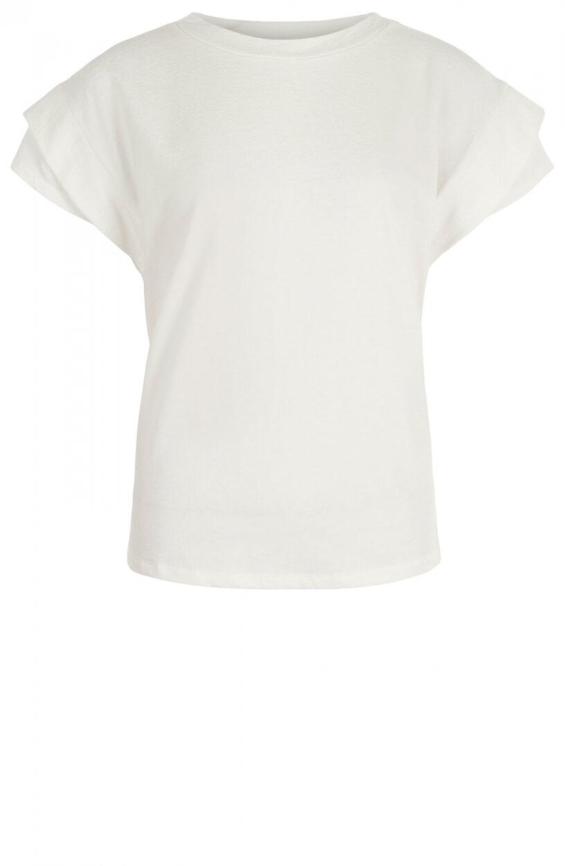Anna Dames Boxy shirt Wit