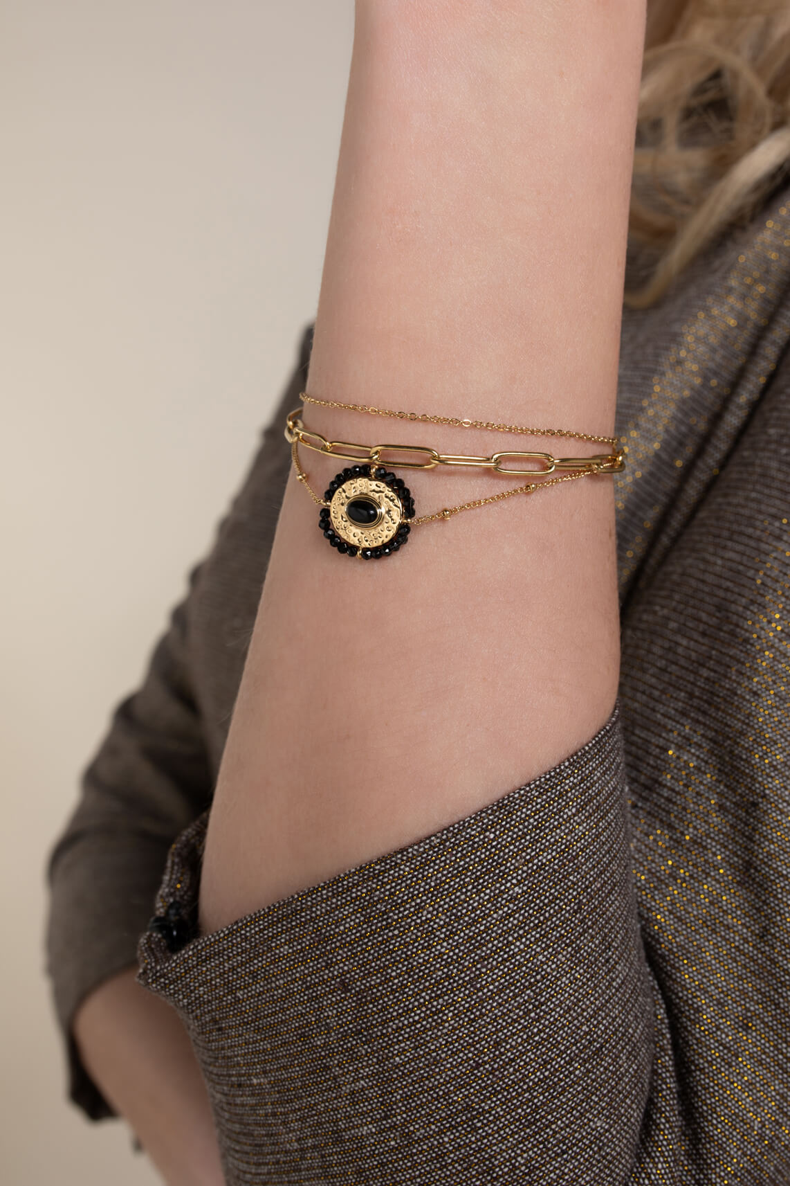 By Jam Dames Ketting & armband set goud