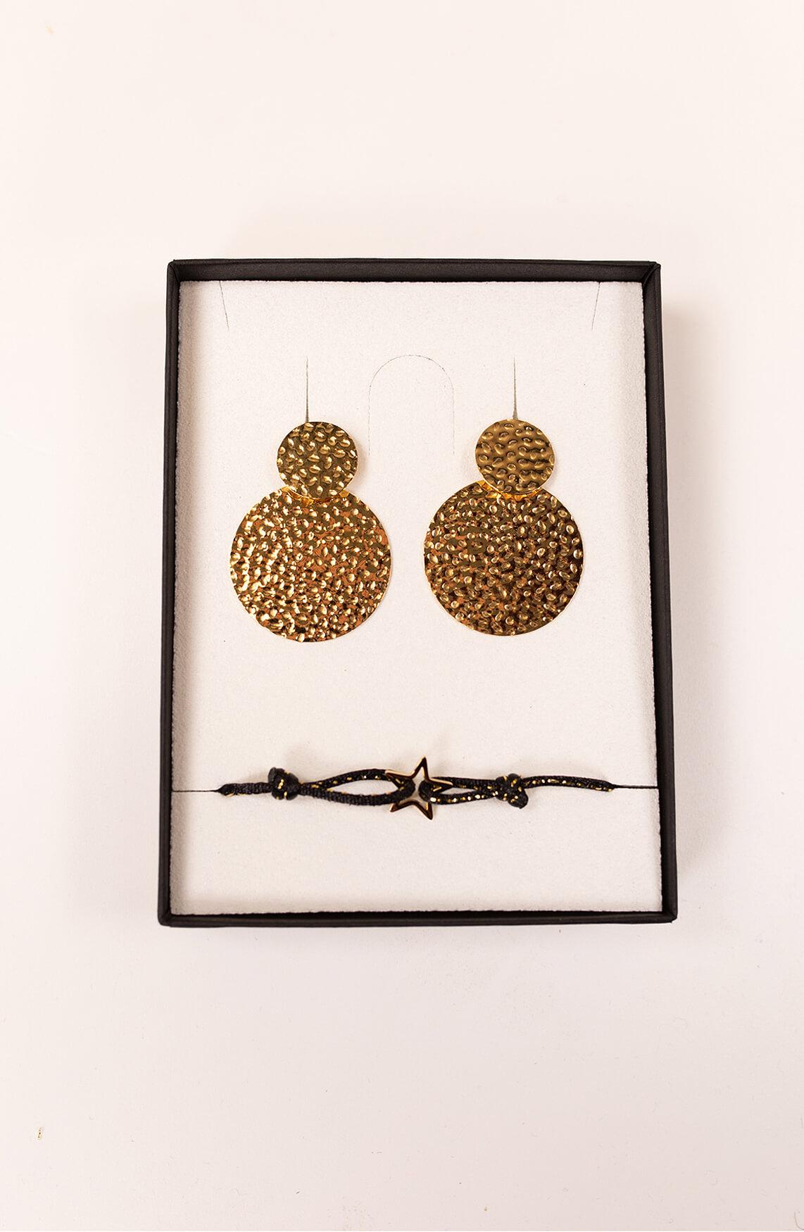 By Jam Dames Oorbellen & armband set goud