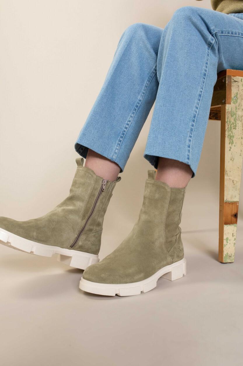 PX Dames Bodil boot Groen