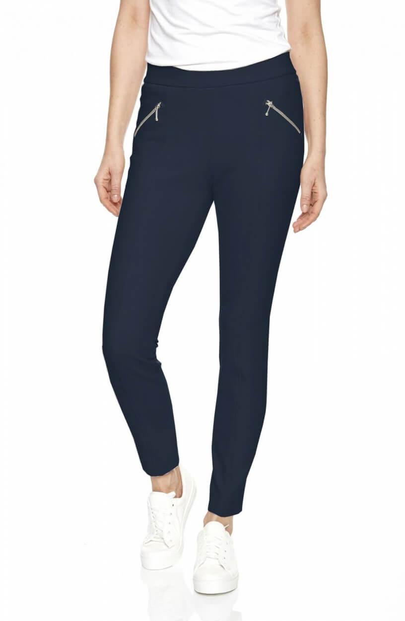 Gardeur Dames Pantalon met ritszakken Blauw