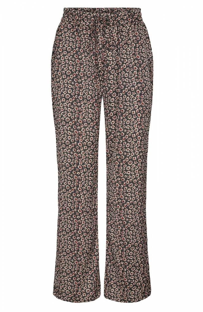 Co Couture Dames Fox bloemenprint broek Zwart
