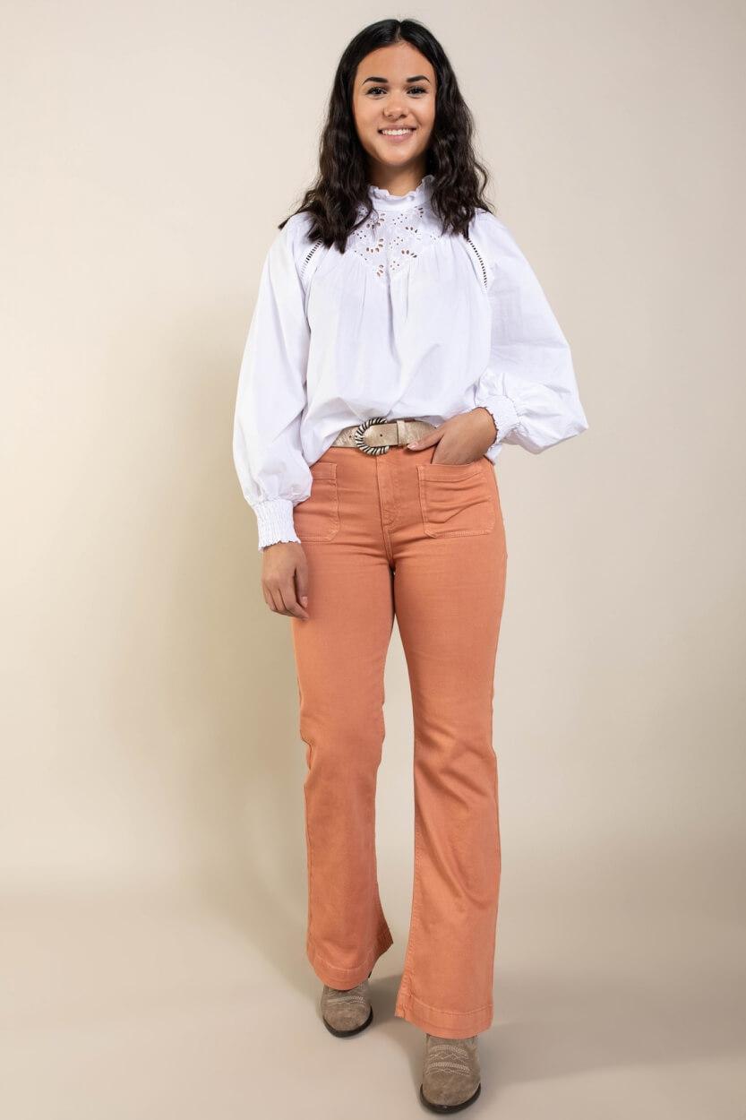 Co Couture Dames Briela blouse Wit