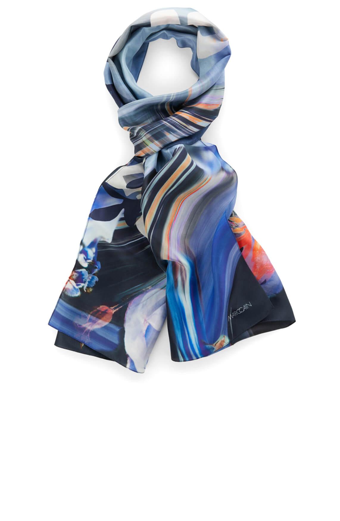 Marccain Sports Dames Zijden shawl Blauw
