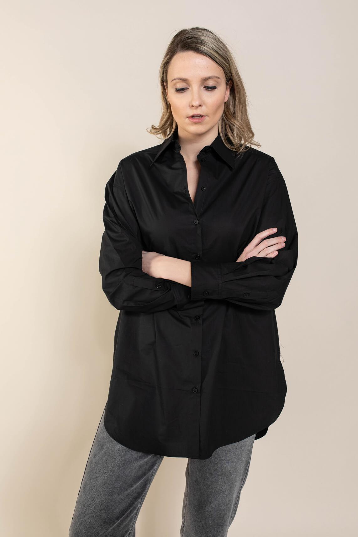 Second Female Dames Larkin lange blouse Zwart