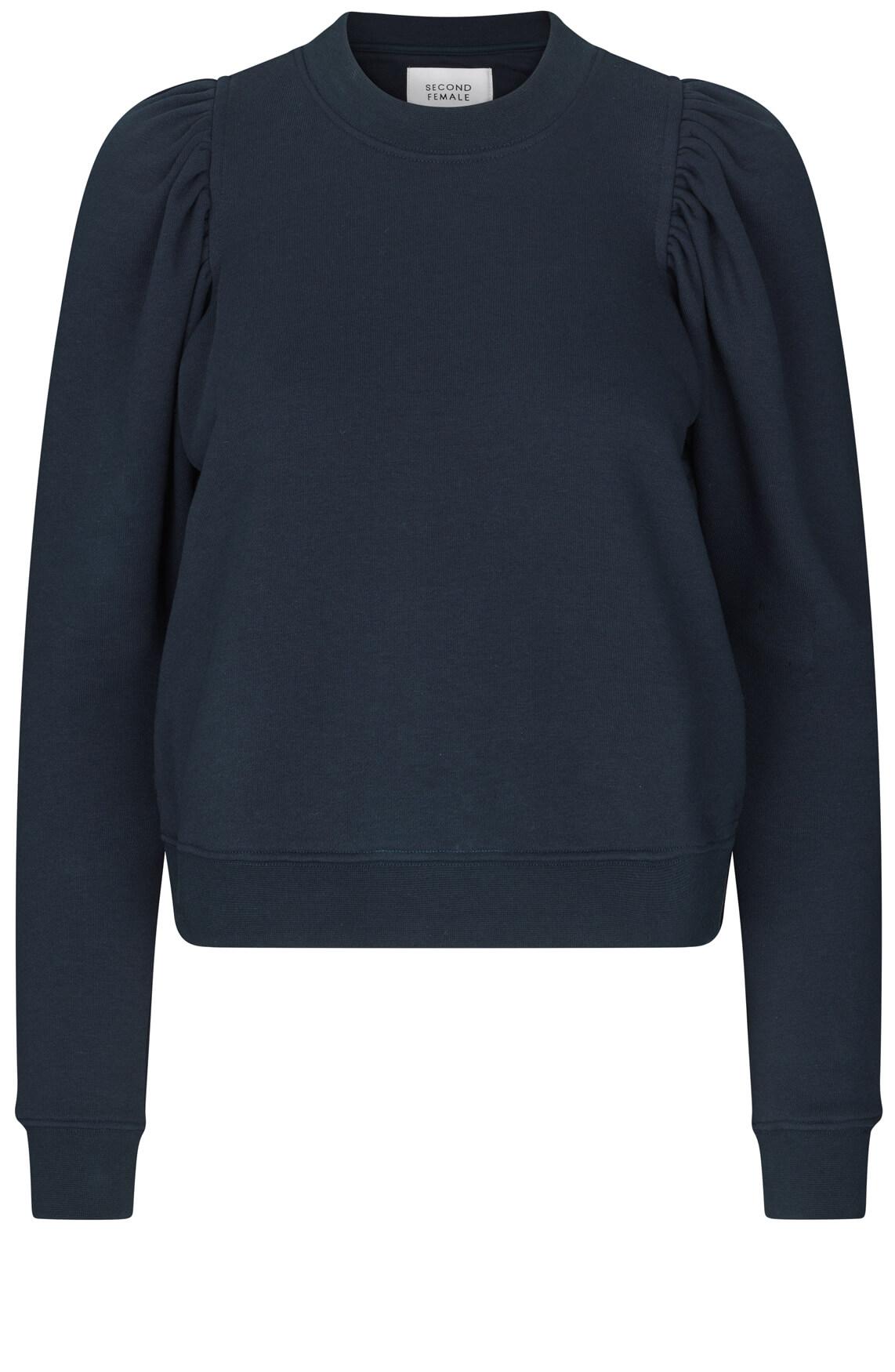 Second Female Dames Oriana sweater met pofmouw Blauw