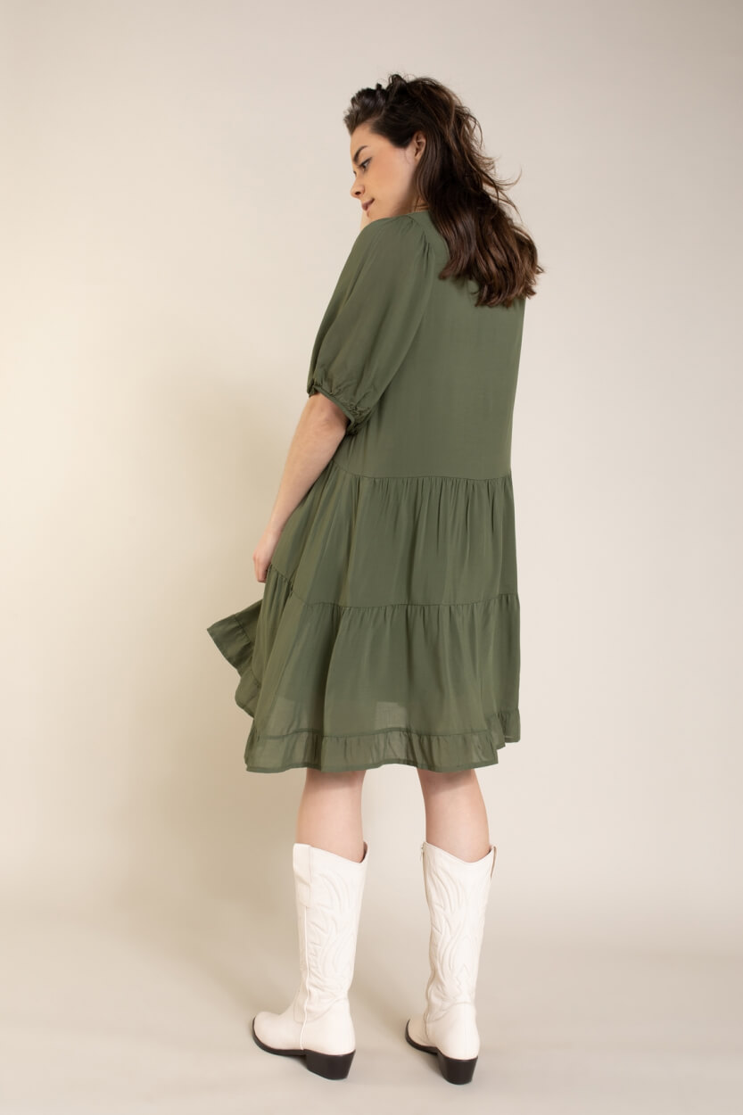 La Fee Maraboutee Dames Lorita jurk Groen