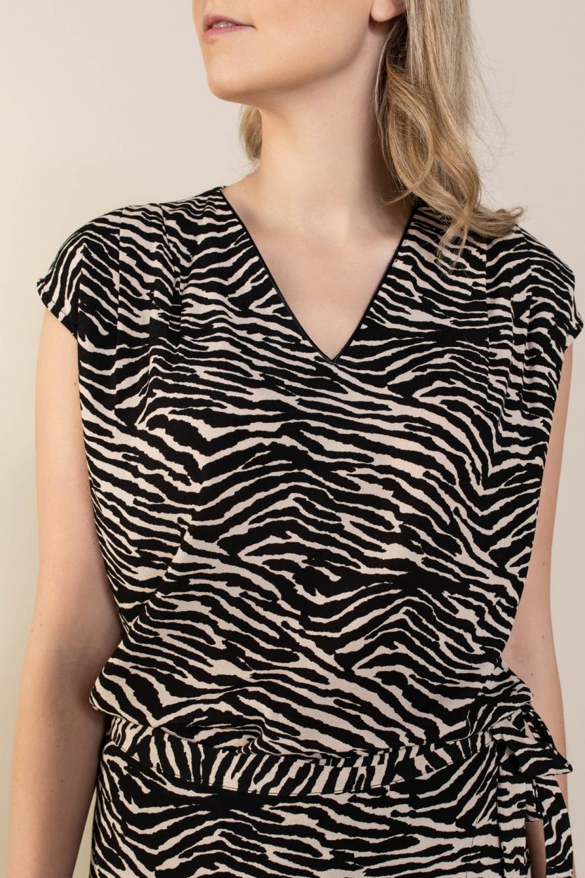 La Fee Maraboutee Dames Nacera blouse Zwart
