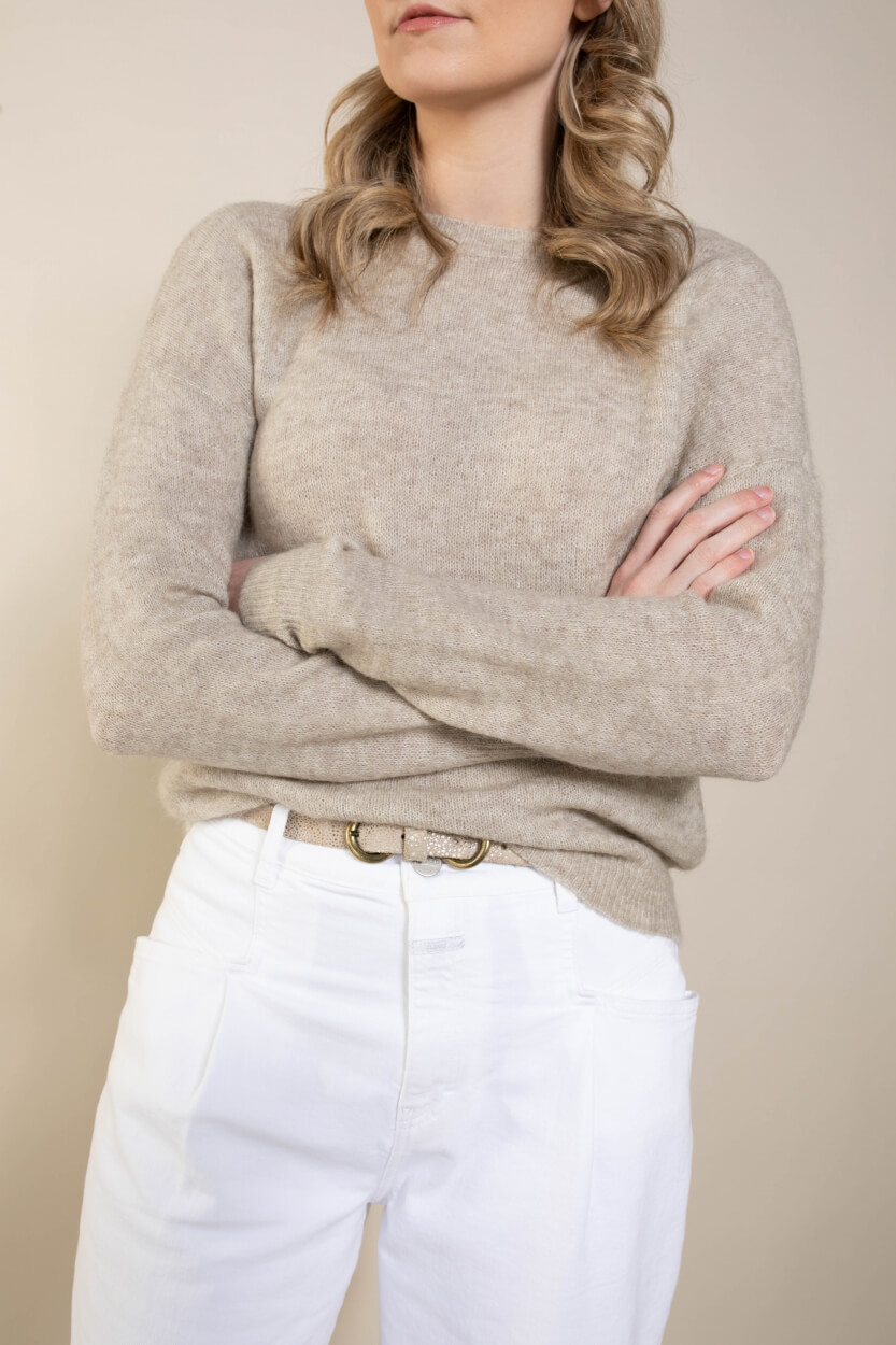 Moss Copenhagen Dames Femme O-neck pullover Bruin