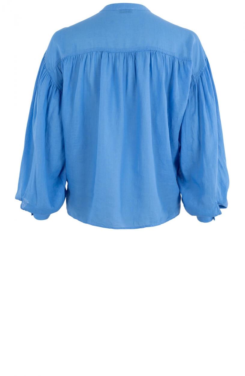Anna Dames Blouse met pofmouw Blauw