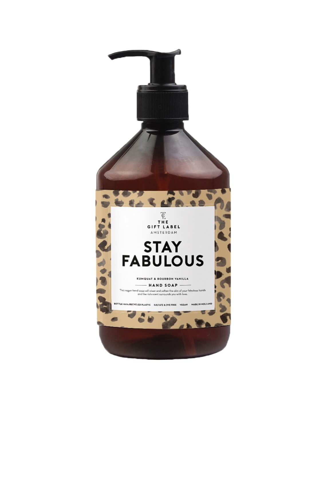 The Gift Label Dames Hand soap Stay Fabulous Bruin