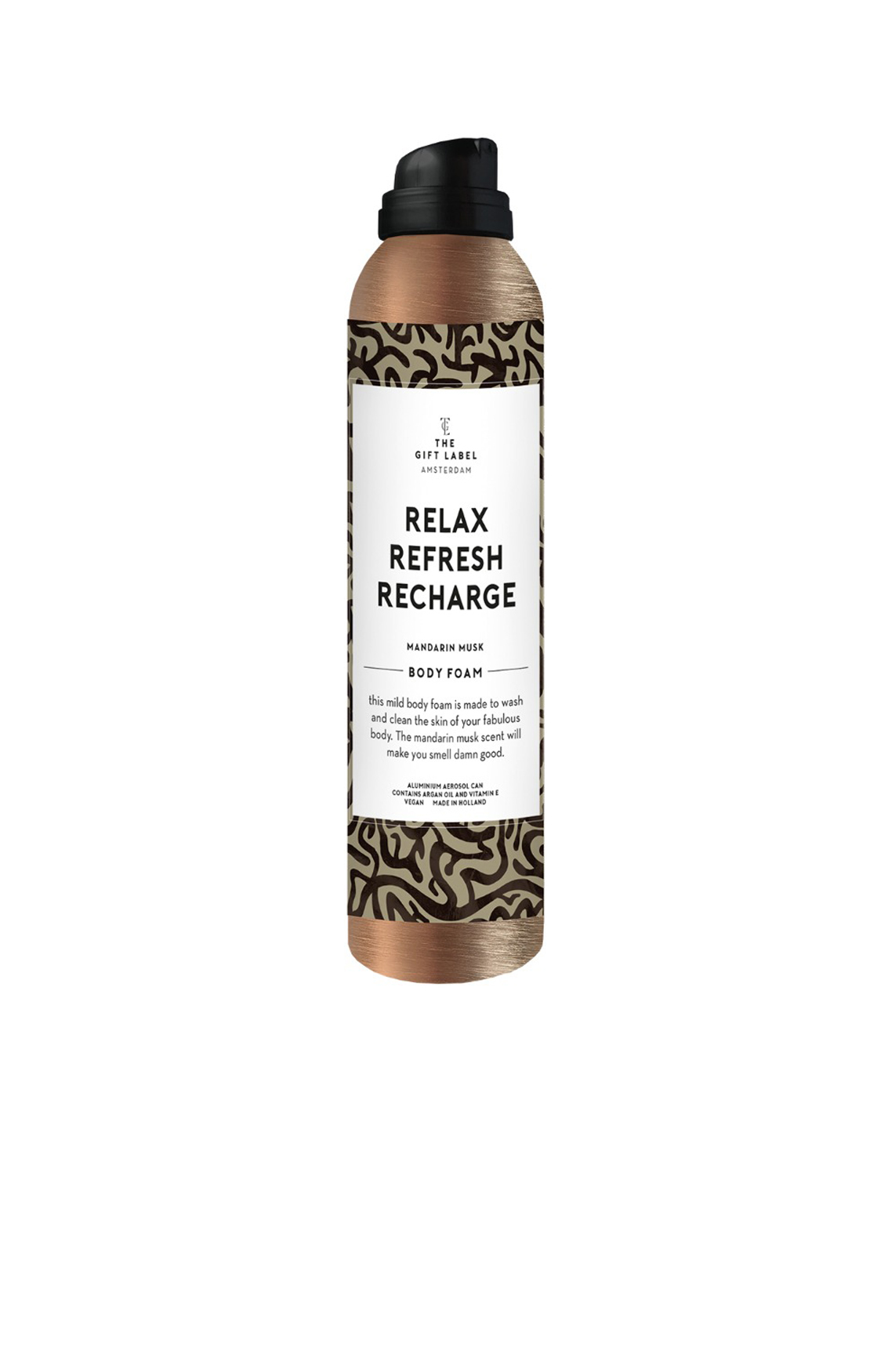 The Gift Label Dames Shower foam Relax Refresh Recharge Groen