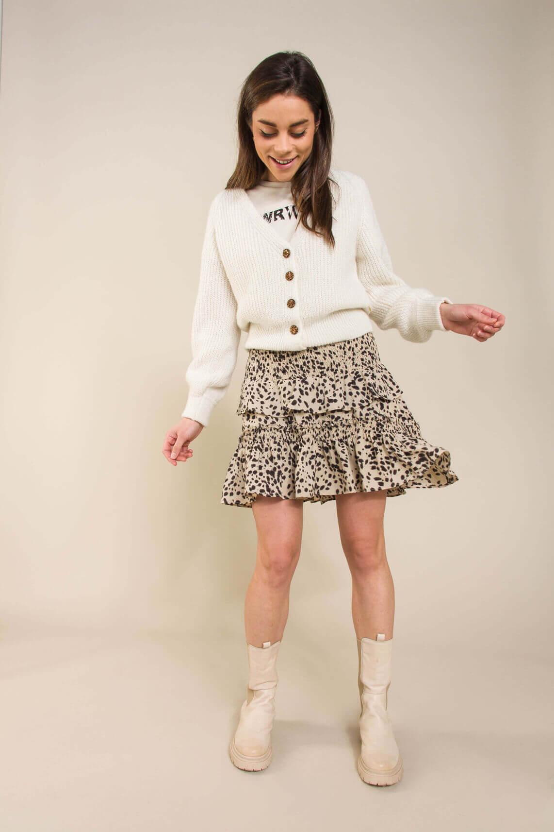 Co Couture Dames Spot rokje Ecru