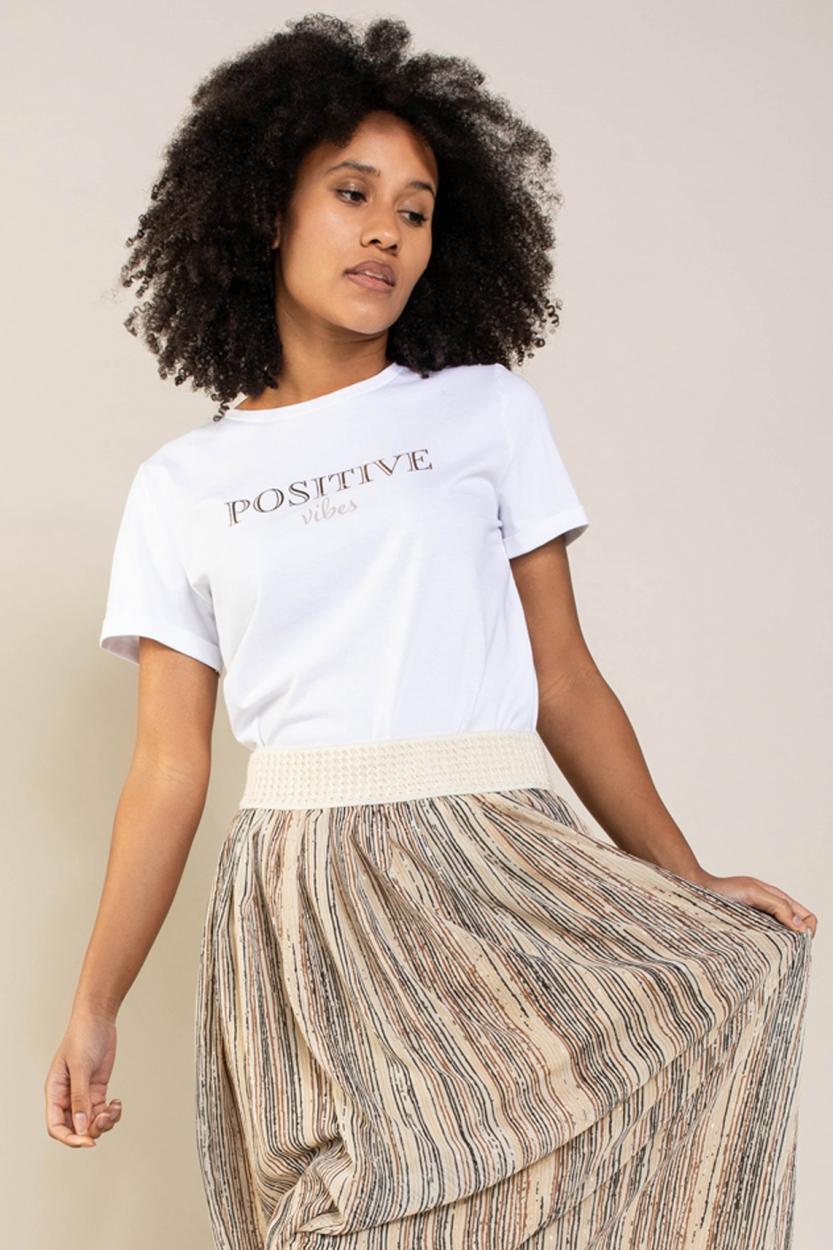 Anna Dames Shirt met tekst Wit