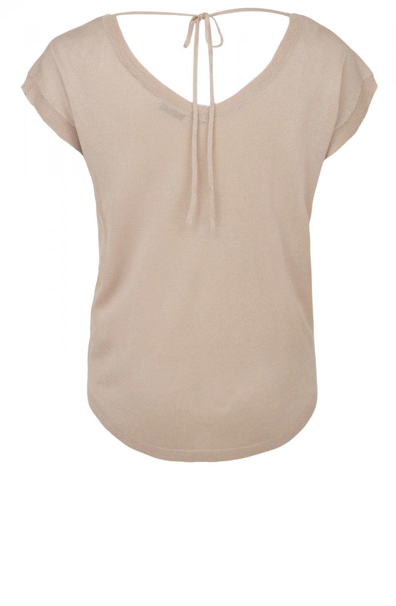 Anna Dames Shirt met strikdetail Bruin