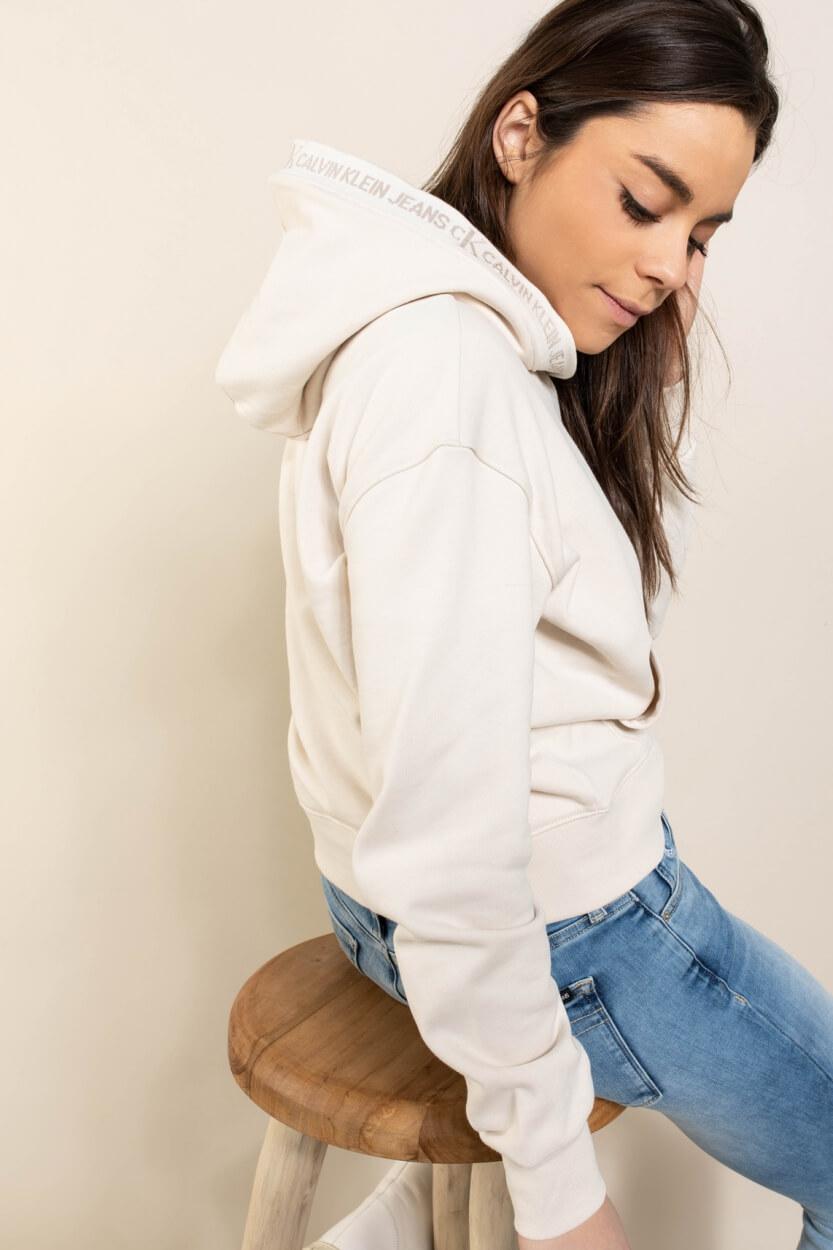 Calvin Klein Dames Hoodie Wit