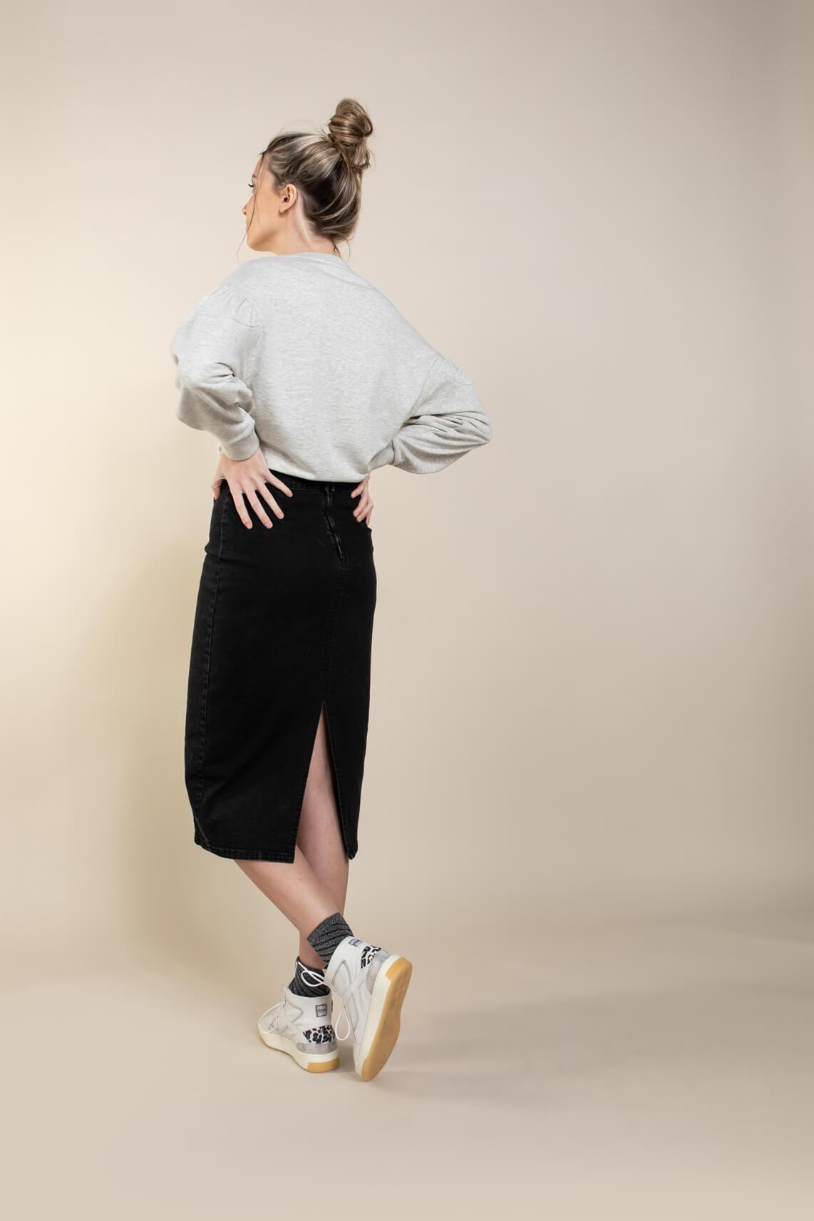 Anna Dames Gemêleerde sweater Grijs