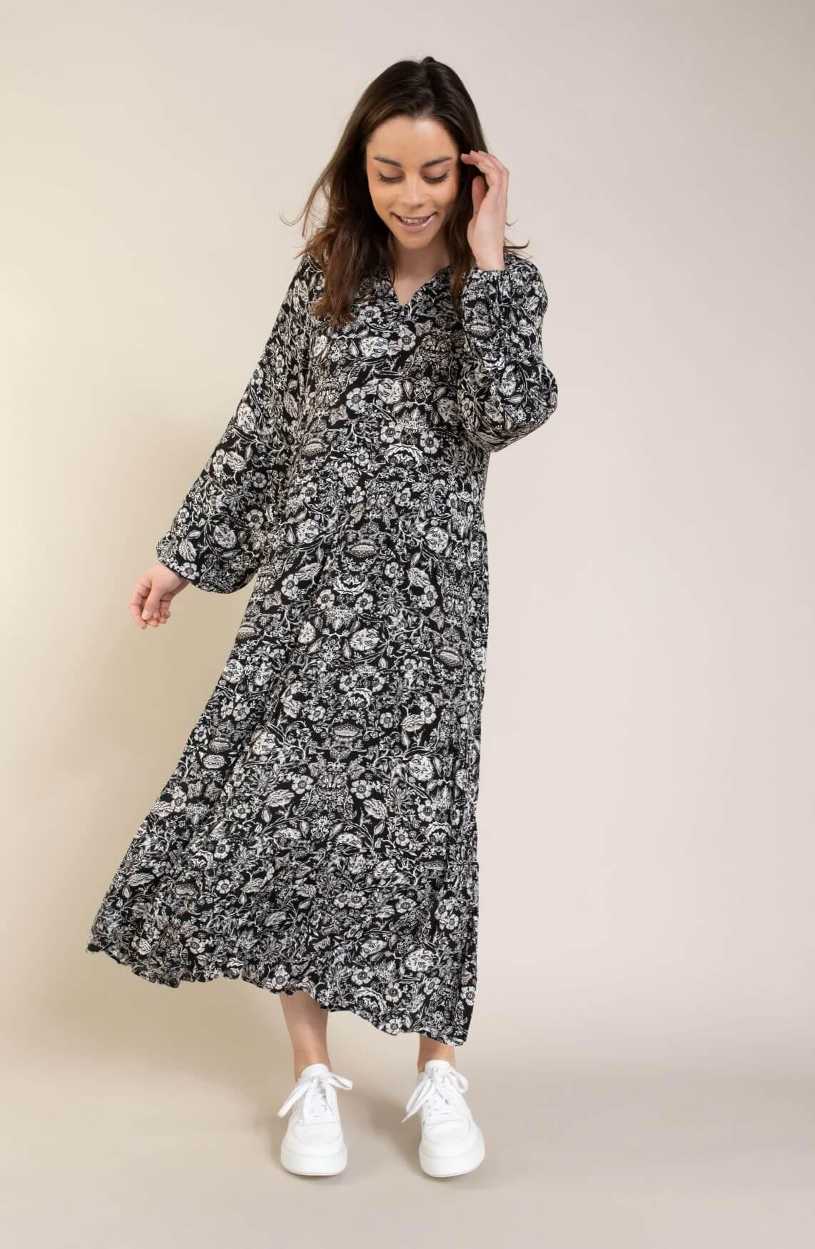 Alix The Label Dames Flower jurk Zwart
