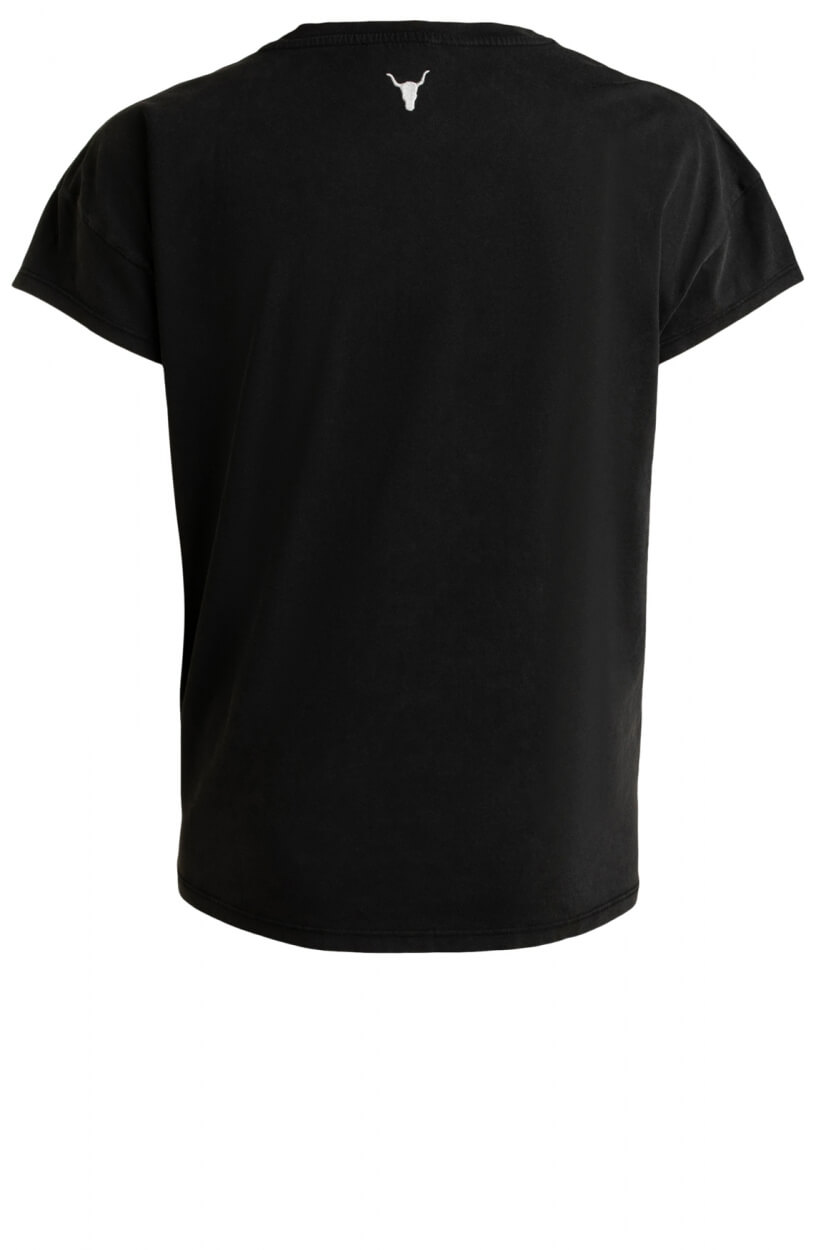 Alix The Label Dames University shirt Zwart