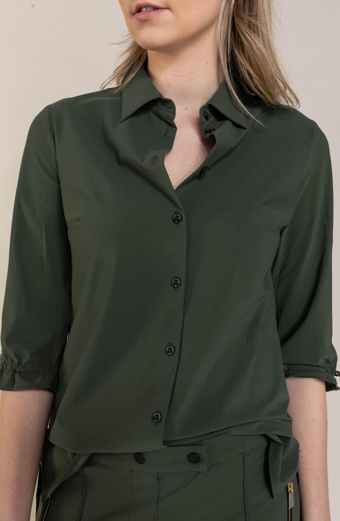 Jane Lushka Dames Flora blouse Groen