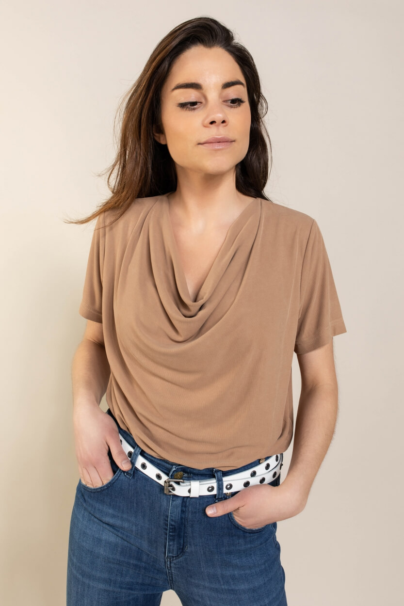 Mos Mosh Dames Savina shirt Bruin