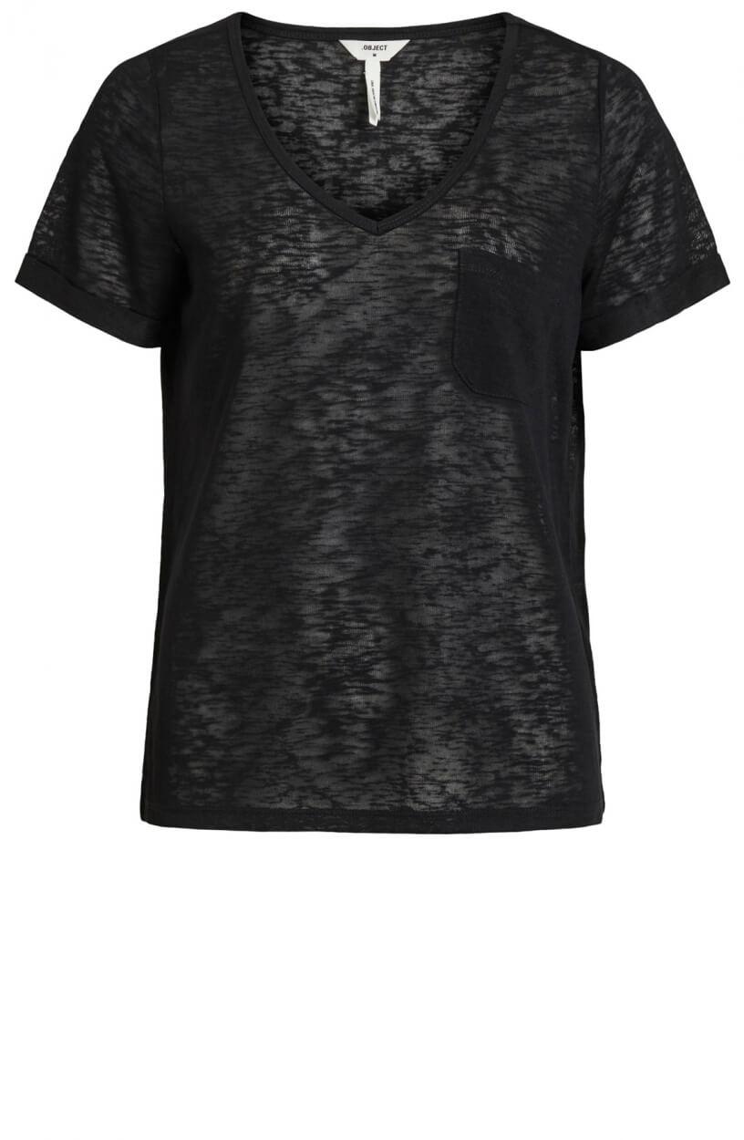 Object Dames Tessi shirt Zwart