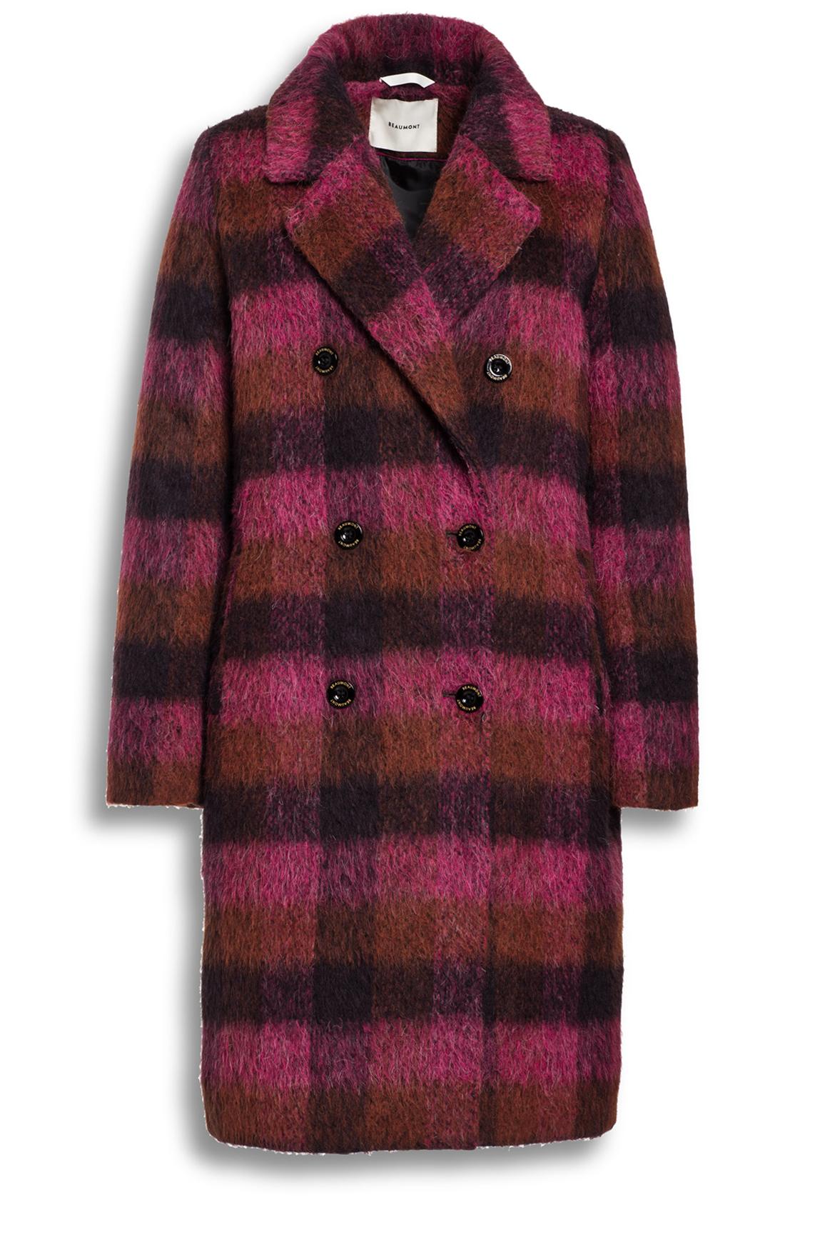 Beaumont Dames Geruite mantel roze
