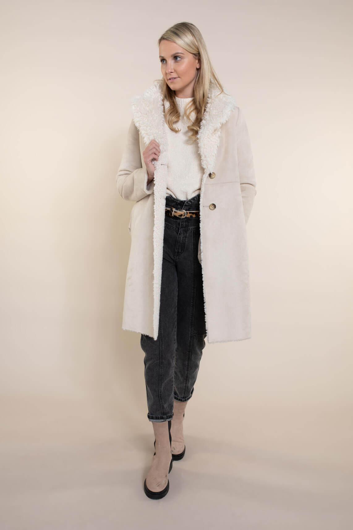 Beaumont Dames Reversible teddy jas wit