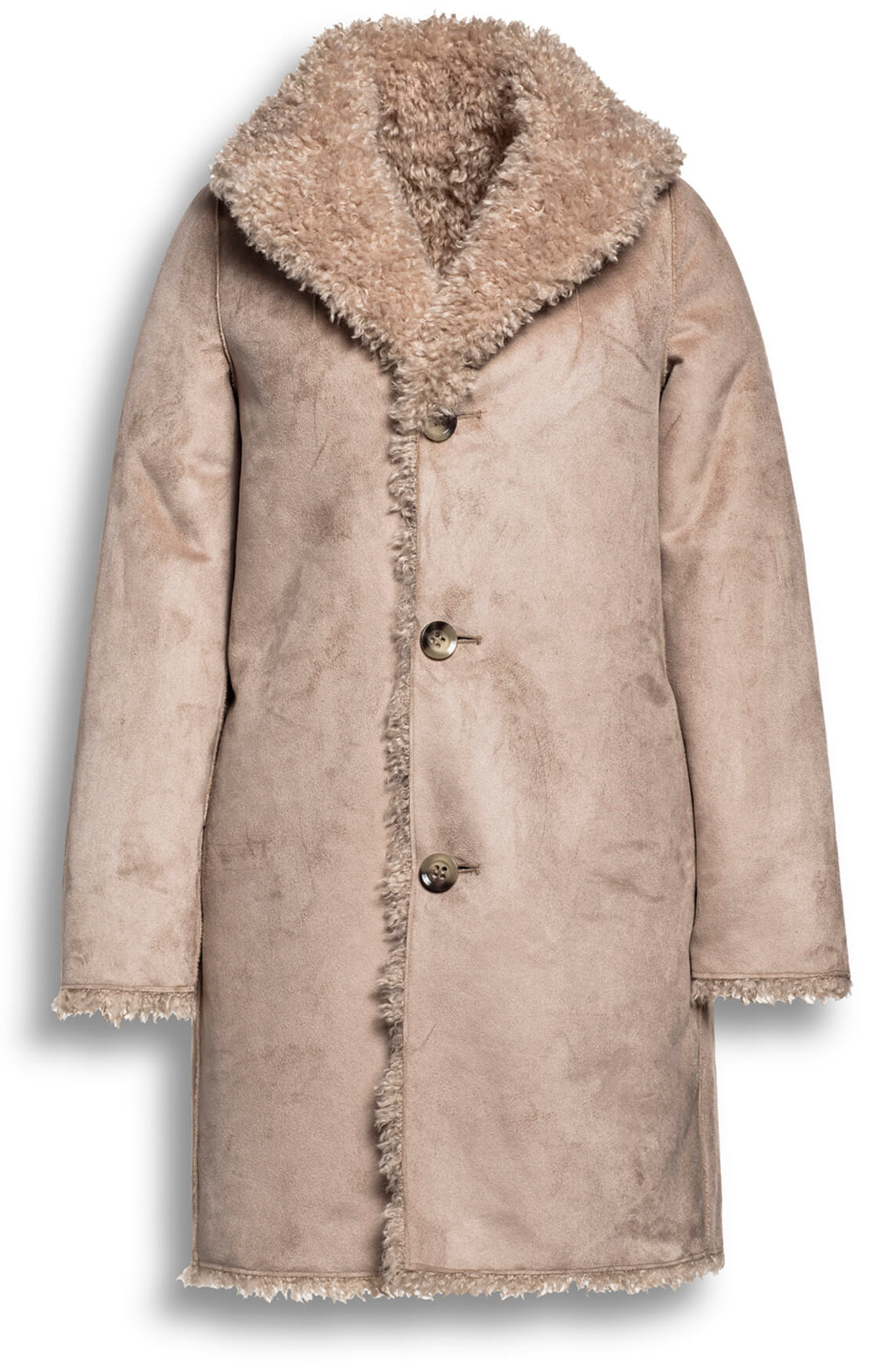 Beaumont Dames Reversible mantel Bruin