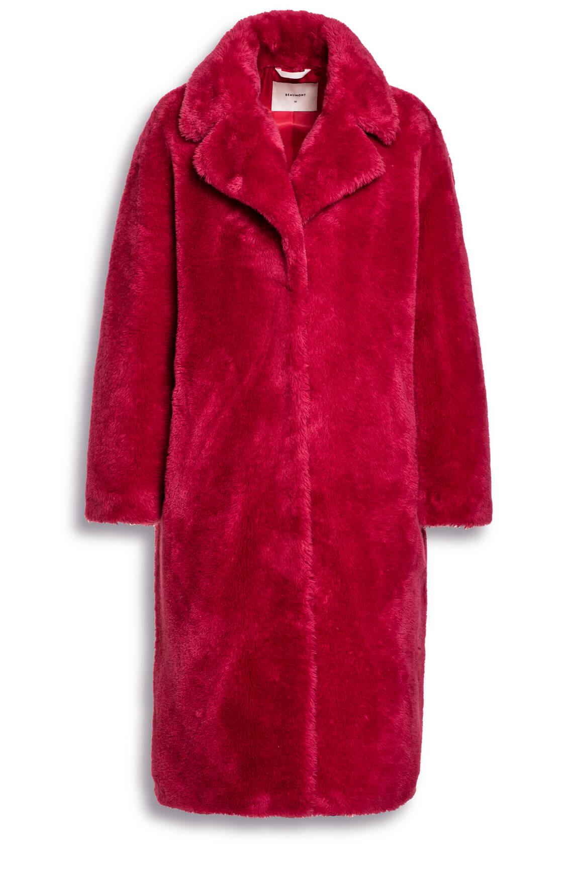 Beaumont Dames Faux fur mantel roze