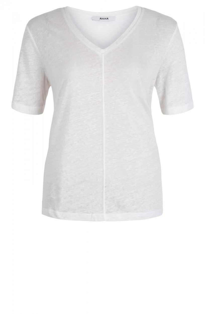 Anna Dames Linnen shirt Wit