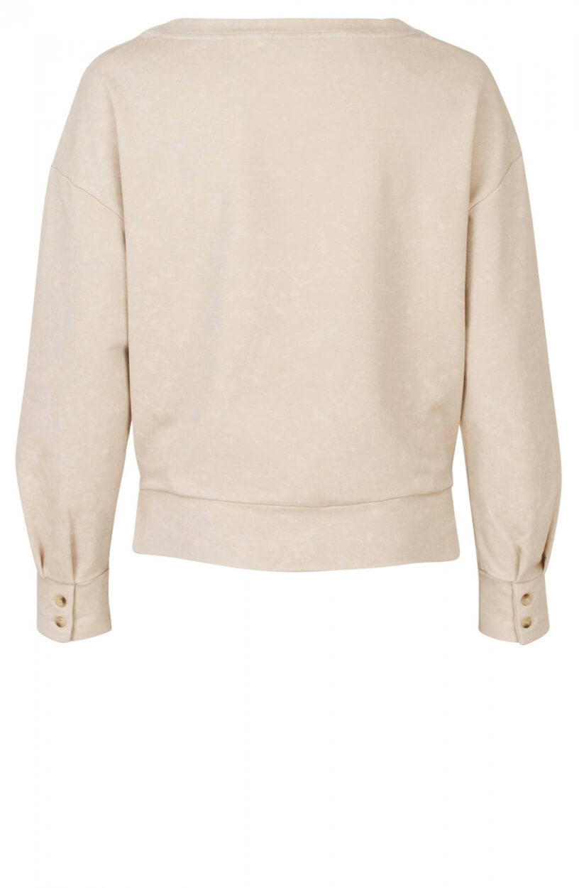 Anna Dames Washed sweater Wit