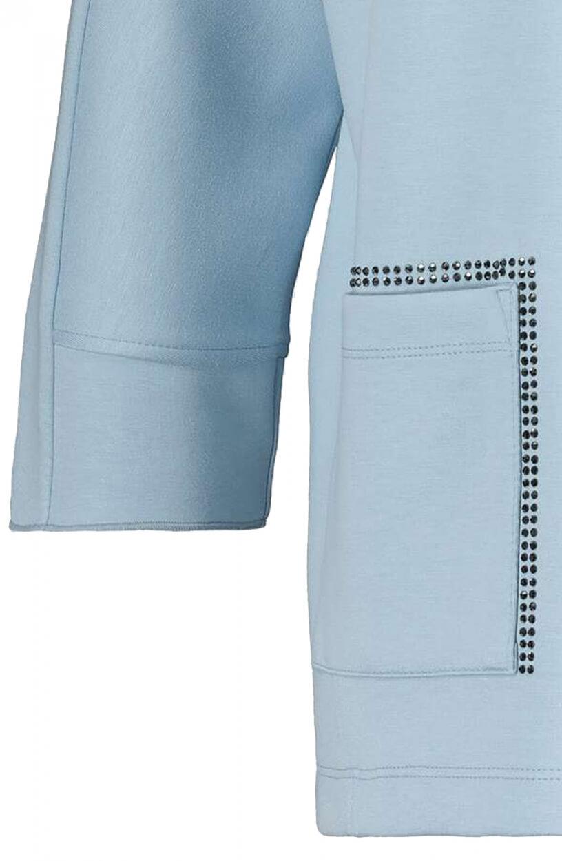 Monari Dames Pullover met rijgkoord Blauw