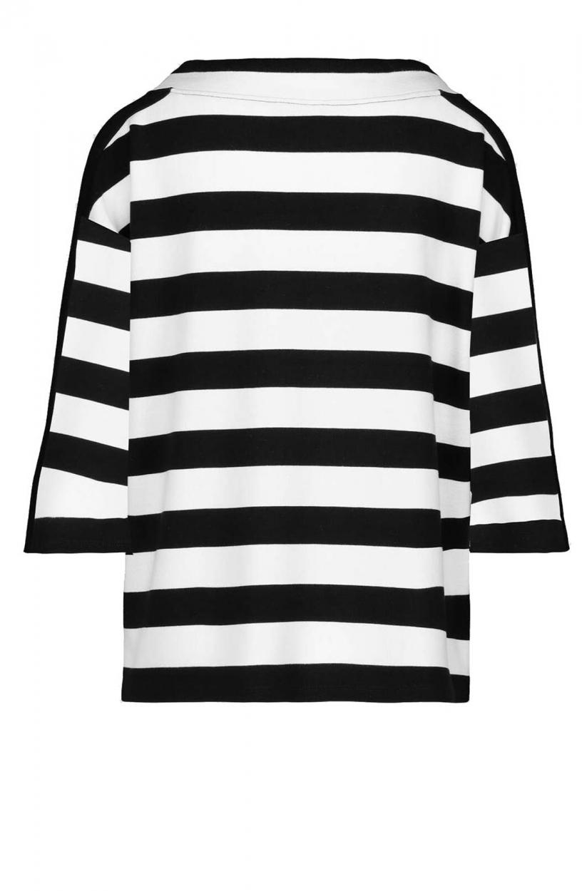 Monari Dames Gestreepte pullover Zwart