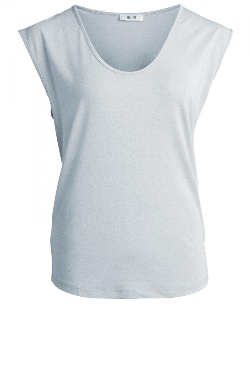 Anna Dames Shirt met glitters Blauw