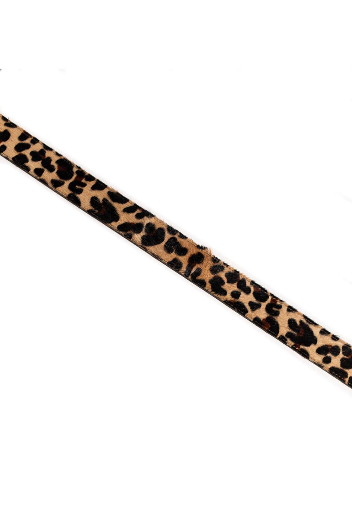 Fique the Label Dames Bagstrap leopard Bruin