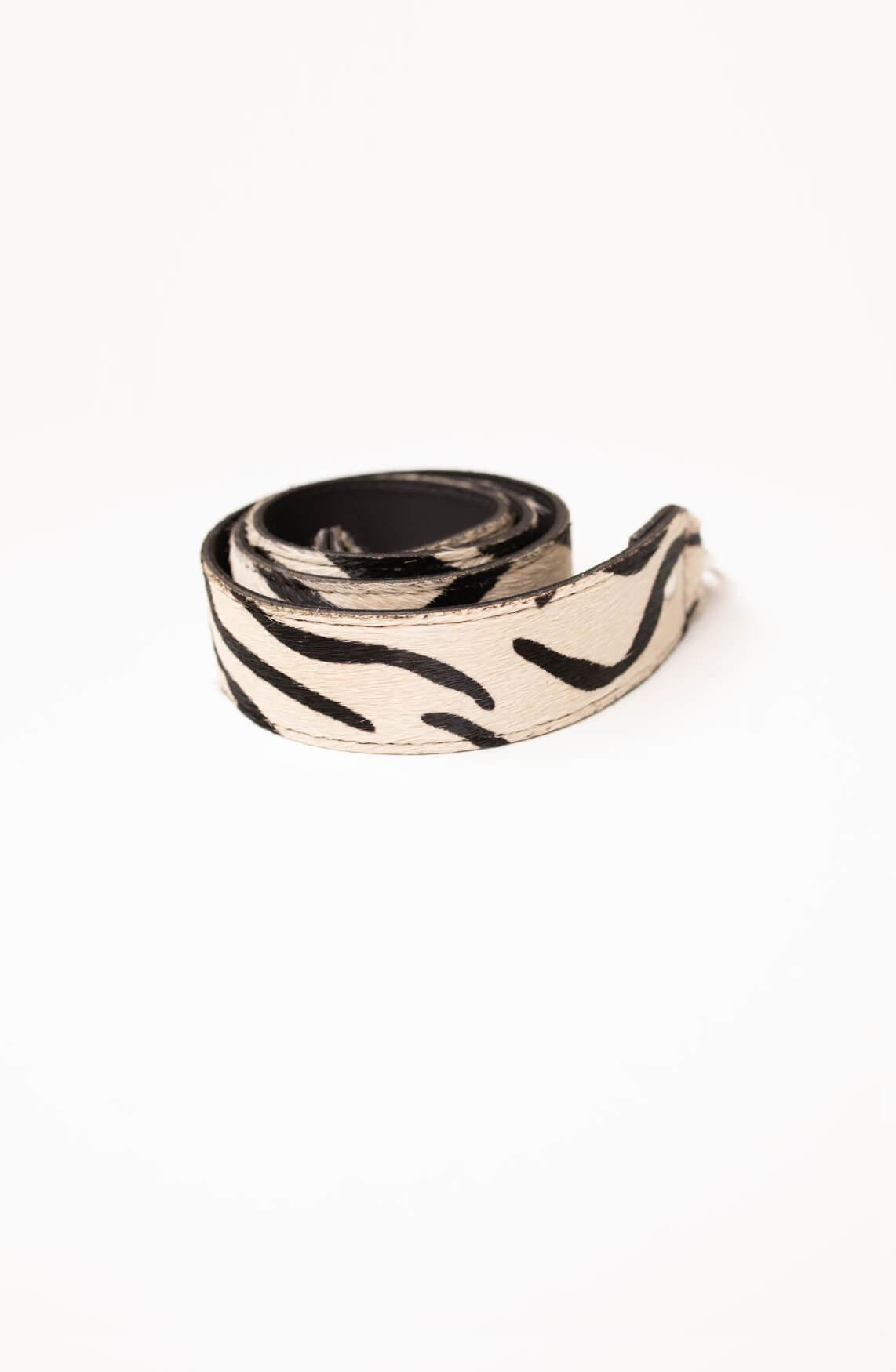 Fique the Label Dames Bagstrap zebra Zwart