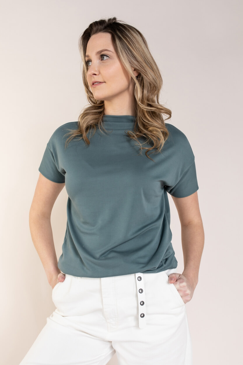 Anna Dames Shirt met modal Groen