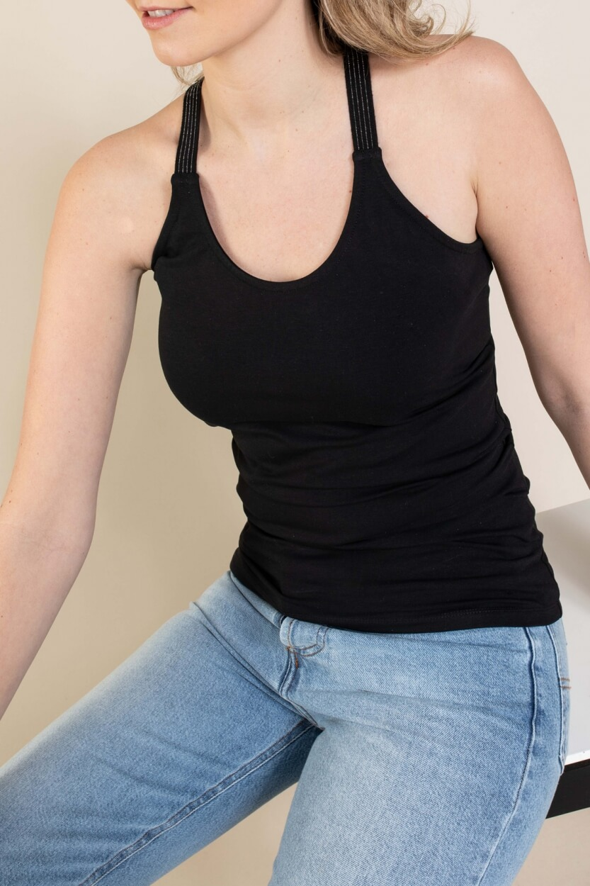 Anna Dames Top met lurex Zwart