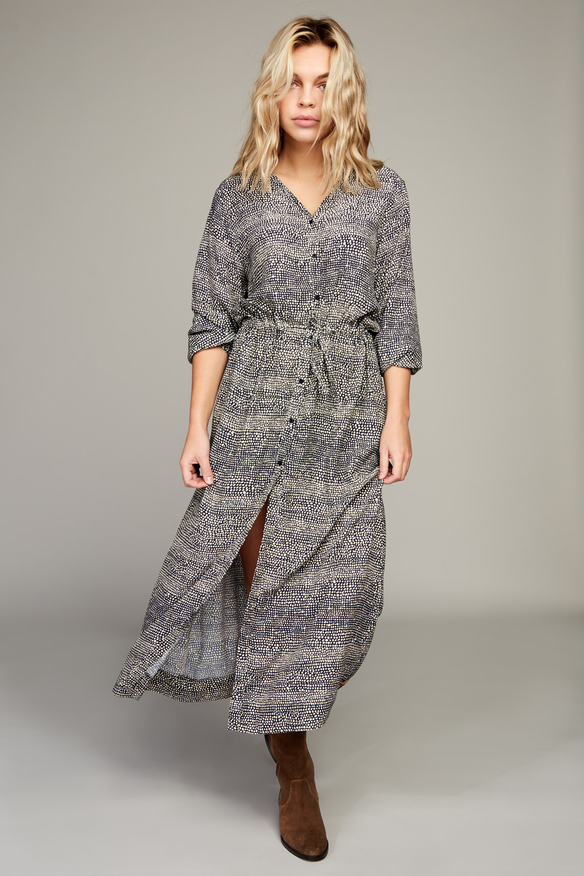 Moscow Dames Winner lange jurk Blauw