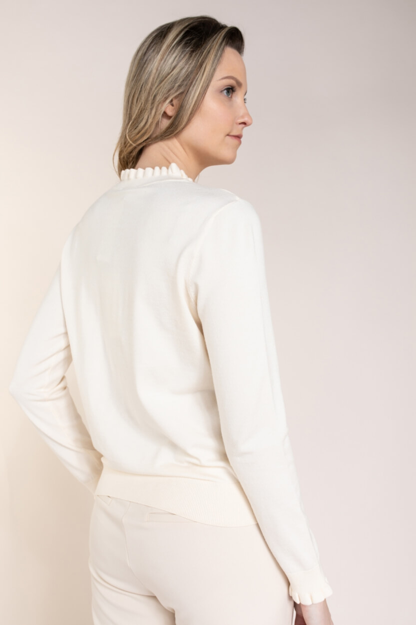 Fabienne Chapot Dames Molly pullover Wit