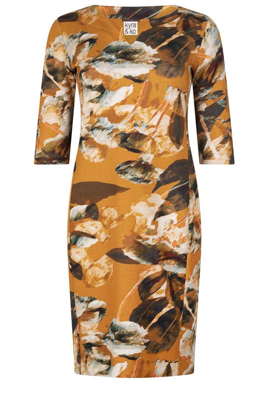 Kyra & Ko Dames Delta jurk Oranje