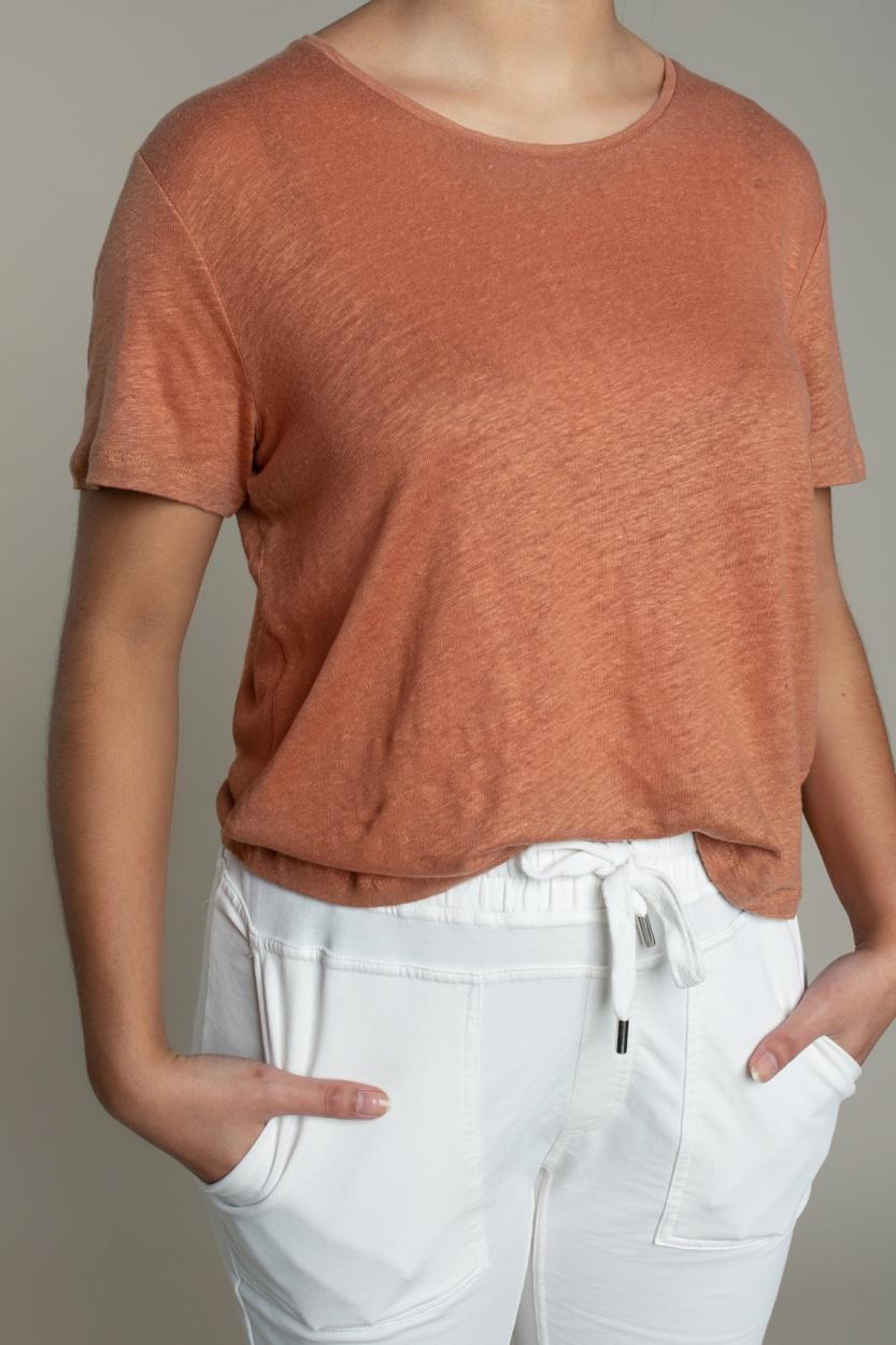 Moscow Dames Daily linnen shirt Roze