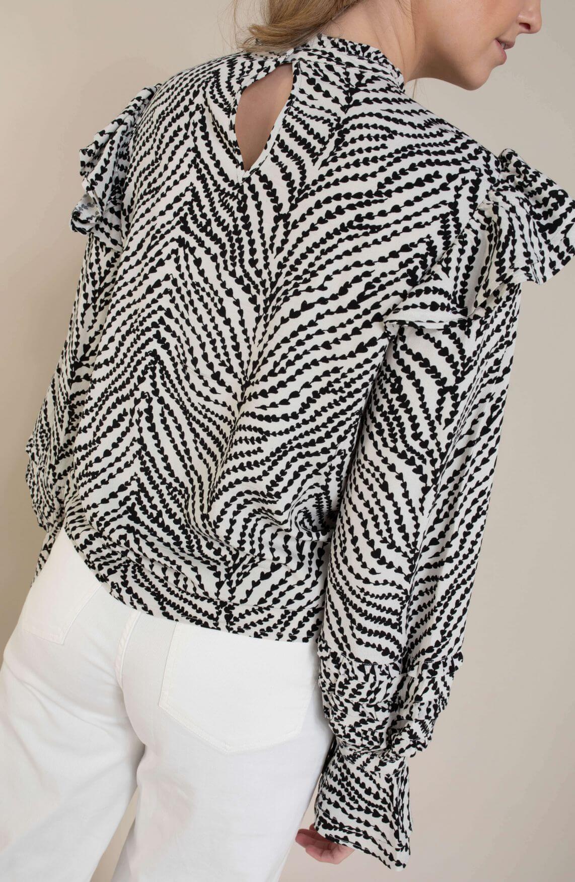 Fabienne Chapot Dames Leo Frill blouse Wit