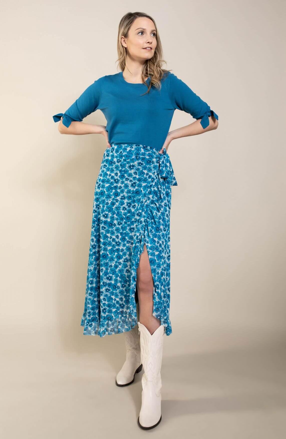 Fabienne Chapot Dames Bobo Frill rok Blauw