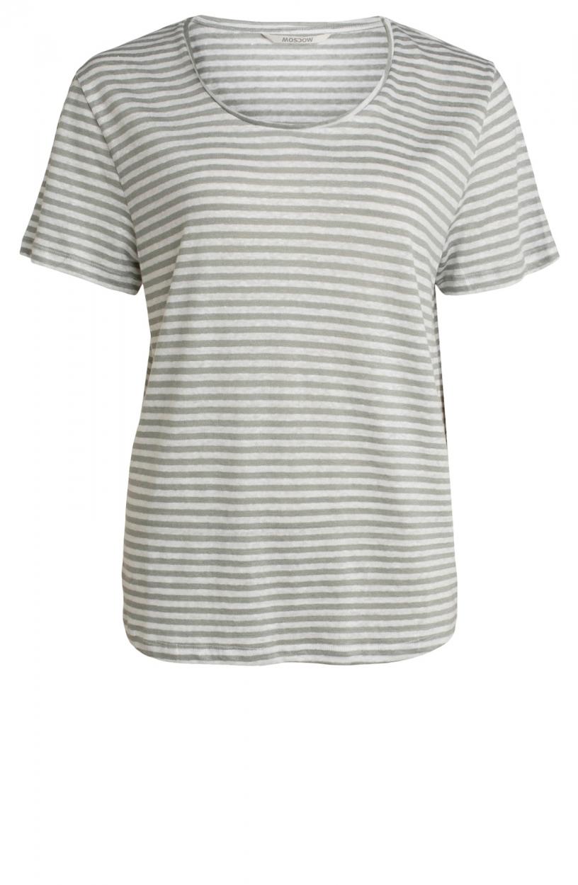 Moscow Dames Daily gestreept shirt Grijs