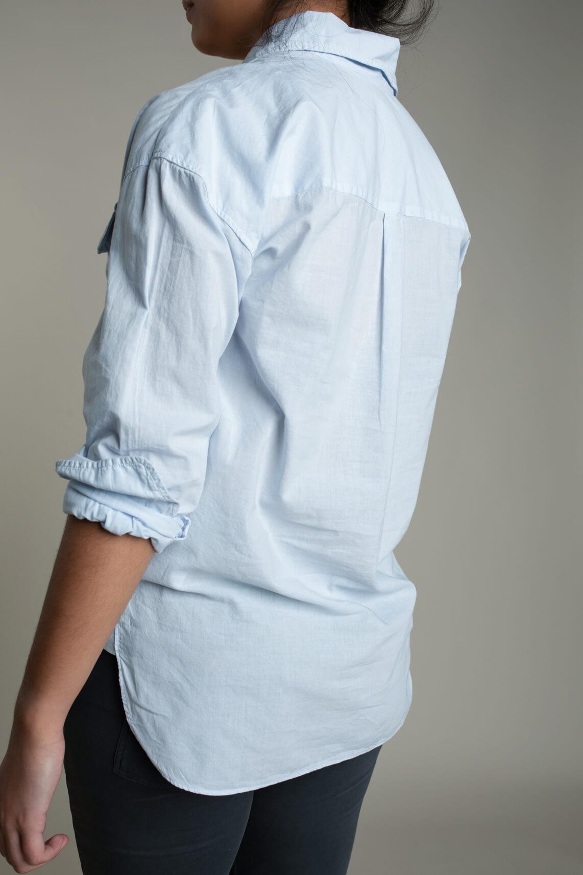Moscow Dames Cadmandu garment dye blouse Blauw