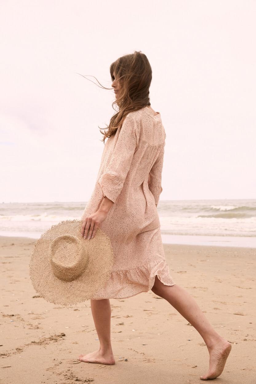 Moscow Dames Hussy stippen jurk Roze