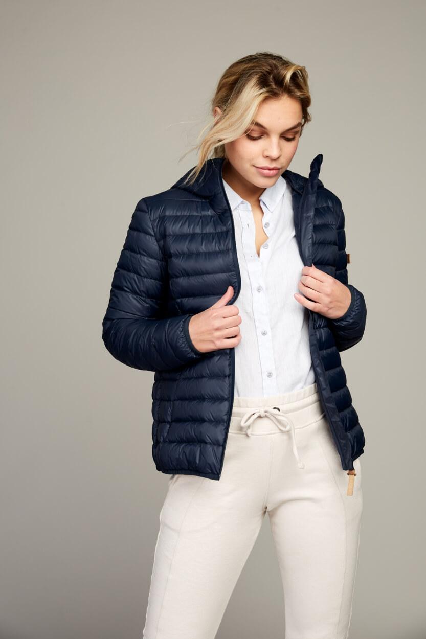 Moscow Dames Button linnen blouse Blauw