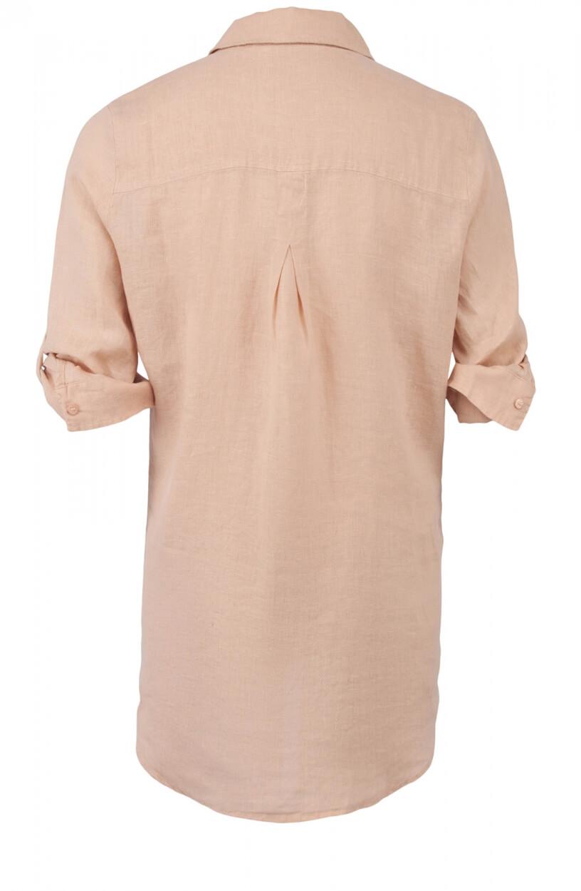 Moscow Dames Button linnen blouse Roze